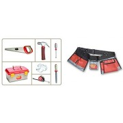 Red Tool Box Toolbox With 6 Pc Set Of Tools And Tool Belt Bundle