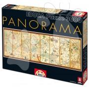 Educa Puzzle Mappa Mundi 1375 3000 de piese 16355 colorat