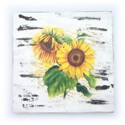 Tablou lemn floarea soarelui 1404