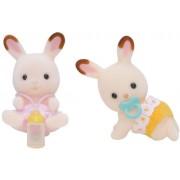 Sylvanian Families - Cuccioli gemelli di conigli, cioccolato