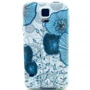 Husa de protectie Slim TPU pentru Samsung Galaxy S5, Blue Flower
