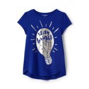 ランズエンド LANDS' END ガールズ・Aライン・グラフィックT/半袖/Tシャツ【キッズ・子供服・女の子】(ステイブライト)