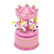Jucarie New Classic Toys Carusel muzical pink