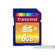 SD Card, 8GB, Transcend SDHC, Class10 (TS8GSDHC10)