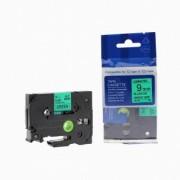 Brother TZ-721 / TZe-721, 9mm x 8m, černý tisk / zelený podklad kompatibilní