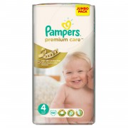 Pampers - Scutece Premium Care 4 Maxi Jumbo Pack 66 buc