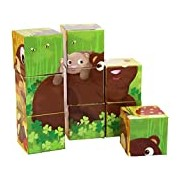 Goula Educational Game - 9 Cubes Forest Animals - 53419