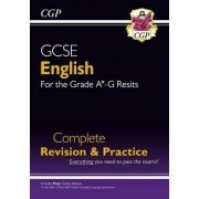 GCSE English Complete Revision & Practice - New for Grade A*-G Resits (with Online Edition) by CGP Books