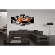 Tablou multicanvas abstract white cicles - 120x75cm, model BM3186