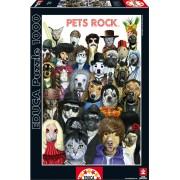 Educa Puzzle Pets Rock 1000 de piese 15155 colorat