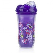 Nuby 9 oz No-Spill Insulated Cool Sipper Purple