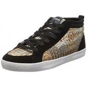 Desigual Shoes_Classic Mid G, Zapatillas Deportivas para Interior para Mujer, Dorado (DORADO8010)