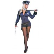 Dress Up America 329-M - Costume da Poliziotta Sexy per Adulti Medium, Multicolore