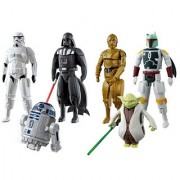 Emob Egg Force Star Wars Super Hero Action Figure Set (Darth Vader Storm Trooper R2-D2 Boba Fett Yoda C-3PO)