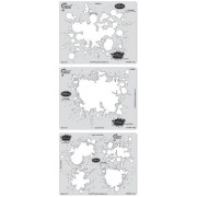 Artool Freehand Airbrush Templates, Splatter Template Set