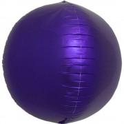 Balon folie sfera purple metalizat 3D - 43cm, Northstar Balloons 01009