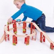 Bigjigs Rail High Level Track Expansion Pack for Train Set
