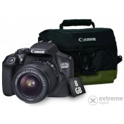 Aparat foto Canon EOS 1300D (obiectiv 18-55 IS), negru + geanta Canon + 8GB SD