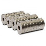 Set Of 100Pcs 10mm x 3mm x 3mm(HOLE) Round RING Rare Earth NdfeB Neodymium Strong Magnets N52