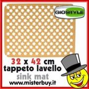TAPPETO LAVELLO RIFLORI 32 x 42 cm GIOSTYLE GIALLO