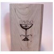 Cutie lemn masiv pentru cadou 2 sticle Davino