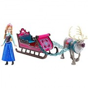 Disney Frozen Anna Doll with Sleigh and Sven Gift Set