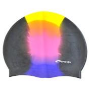 ABSTRACT Plavecká čepice silikonová pestrá černá Spokey