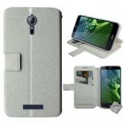 Housse Etui Coque Pochette Portefeuille Pour Acer Liquid Zest Plus Z628 + Film Ecran - Blanc