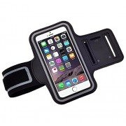 Link Plus Black,Sweat-Free, Gym, Running, Jogging, Walking, Hiking, Workout and Exercise Sport Armband with Extra Adjustable-Length Extention Band & Key Slot For Apple iPhone 5S 16GB