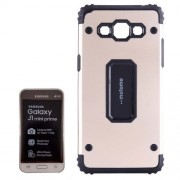 MOTOMO for Samsung Galaxy J1 mini prime / SM-J106 Metal + TPU Combination Protective Back Case(Gold)