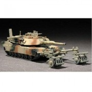 Maquette Char Lourd Us M1a1 Abrams Mine Roller 1991-Trumpeter