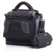 Deluxe Digital SLR Camera Case Bag With Padded Interior Lining by USA Gear - Works with Nikon Coolpix P610 L840 D7200 and More Nikon CamerasFits Cameras Without Lens Attached