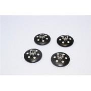 Axial Yeti XL Monster Buggy Upgrade Parts Aluminium Extra Size Locking Wheel Washer - 4 Pcs Set Black
