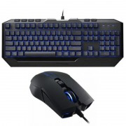 "Kit Tastatura + mouse COOLER MASTER ""DEVASTATOR II"" blue LED, switch-uri mem-chanical, mouse 2000DPI (SGB-3030-KKMF1-US)"