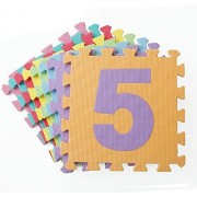 NON-TOXIC 10 Piece Numbers EVA Foam Puzzle Mats Number Puzzle Play & Flooring Mat 6 Multi-Color for Children & Toddlers
