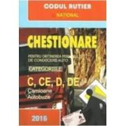 2016 Chestionare pentru obtinerea permisului auto categoriile C CE D DE - Camioane autobuze