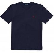 Ralph Lauren Cotton Jersey V-Neck T-Shirt Navy