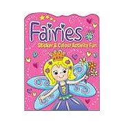 Fairies Sticker and Colour Activity Fun Book 2 (Pink)