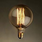 e27 40w G125 fio reto grande bulbo bulbo edison retro lâmpadas decorativas