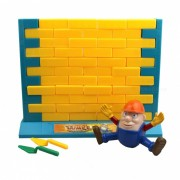 Divertido Humpty Dumpty Figura Wall Empujar Bricks Game - Naranja + Amarillo