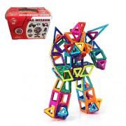 Zhibo Mag Wisdom 71 Piece Set Magnet Building Tiles Clear 3 D Color Magnetic Building Blocks Creativity Beyond