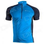 NUCKILY NJ601 para bicicleta Ciclismo transpirable de manga corta Jersey Suit - Azul (Talla XL)