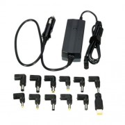 POW-LCA90 Laptop Notebook Power 90W Universal Car Charger with 12 Power Adapters for Samsung Sony Acer DELL HP Lenovo(Black)