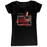 Video Delta - The Vampire Diaries: What's Your Blood Type T-Shirt, Donna, in Taglia L