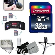 Transcend 32GB High Speed Memory Card KIT for SONY Cyber-shot DSC-HX90V WX500 W800 WX350 WX220 W830 W810 TX30 WX80 TF1 W730 W710 WV10 WX15 W690 TX66 TX20 TX200V WX70 WX50 W650 W620 Digital Cameras