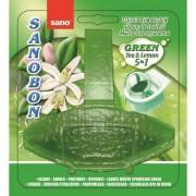 Odorizant solid, pentru vas WC, 55 gr., SANO Bon Green Tea Lemon 5-in-1