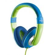 Trust Sonin Auriculares para niños con limitador de volumen, azul y verde