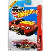 Hot Wheels 2014 Hw Race Thrill Racers Red Circle Trucker 156/250 by Hot Wheels