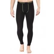 Woolpower Lite Long Johns Men black/light green XL Lange Unterhosen