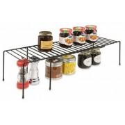 RUBBERMAID INC - Kitchen Helpers Shelf, Expandable, Black Wire, Large